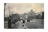 View of Znamenka Street in Winter, Moscow, Russia, Early 20th Century Giclee Print