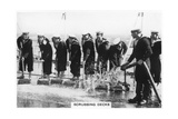 Scrubbing the Deck on Board HMS 'Nelson, 1937 Giclee Print