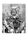 A Chieftan Prince of Abyssinia (Ethiopi), Africa, 1936 Giclée-tryk