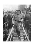 General John Joseph Black Jack Pershing Arriving in Boulogne, June 1917 Giclee Print