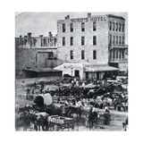 San Antonio, Texas, USA, 1876 Digitálně vytištěná reprodukce