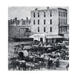 San Antonio, Texas, USA, 1876 - Giclee Baskı