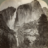 Yosemite Point and Wind-Blown Yosemite Falls, Yosemite Valley, California, USA, 1902 Photographic Print