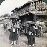 Pilgrim Beggars Beating Little Gongs, Near Lake Kawaguchi, Japan, 1904 Photographic Print