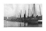 Fishing Boats in Port St Mary Harbour, Isle of Man, 1924-1926 Giclee Print