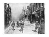 A British Army Patrol, Cambrai, France, First World War, 9 October 1918 Giclee Print