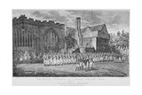 Leathersellers' Hall, and the Church of St Helen, Bishopsgate, City of London, 1871 Giclee Print by Edward Dayes