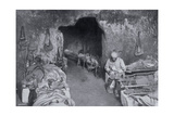 Living Quarters in a French Cave, World War I, 1915 Giclee Print
