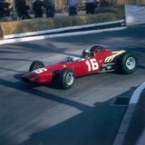 Lorenzo Bandini Driving a Ferrari 246, in the Monaco Grand Prix, Monte Carlo, 1966 Photographic Print