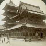 Stately Splendour of the Shitenno-Ji Temple, Osaka, Japan, 1904 Photographic Print