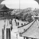 Looking East from Mildera Temple over Otsu and Lake Biwa, Japan, 1904 Photographic Print