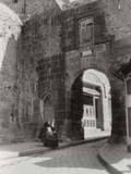 Gateway and Entrance to the Only Street of Mont St Michel, Normandy, France, 20th Century Photographic Print