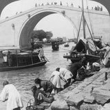 Woo Men Bridge and Grand Imperial Canal, Soo-Chow (Suzho), China, 1900 Photographic Print