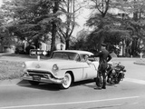 An Oldsmobile at the Corner of an American Street, 1954 Photographic Print