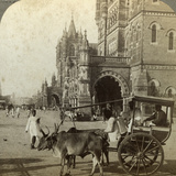 Ekka, Outside Victoria Station, Bombay, India, C1900s Photographic Print by  Underwood & Underwood