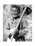 Uzbek Schoolboy Working on a Farm, 1936 Giclee Print
