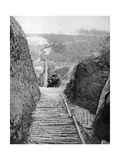 A Communication Trench and Path Towards the Front, France, World War I, 1915 Giclee Print