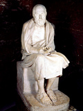 Statue of Seated Man Said to Be Herodotus, Ancient Greek Historian Photographic Print