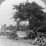 A Battery of Royal Field Artillery Enjoying a Few Hours Rest in a Wood, World War I, C1914-C1918 Photographic Print