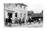 Café in Mouland, Destroyed by Germans, First World War, 1914 Giclee Print