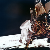 Edwin Buzz Aldrin Descends the Steps of the Lunar Module Ladder to Walk on the Moon, 1969 Photographic Print