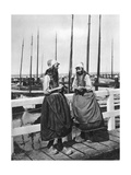 Two Girls on the Landing Stage, Marken, Netherlands, C1934 Giclee Print