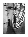 Inside the Clock Face of Big Ben, Palace of Westminster, London, C1905 Giclee Print