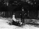 Boy in 1908 Mercedes Pedal Car Photographic Print