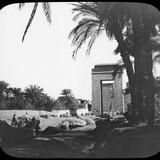 Avenue of Sphinxes, Karnak, Egypt, C1890 Photographic Print