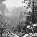 View from Inspiration Point Through Yosemite Valley, California, USA, 1902 Photographic Print by  Underwood & Underwood