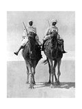Two Arabs Riding Camels in the Sahara Desert, Africa, 1936 Giclee Print