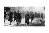 Belgian Troops Nearing the Scene of Battle, First World War, 1914 Giclee Print