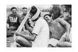 Indian Sikh Athlete, Berlin Olympics, 1936 Digitálně vytištěná reprodukce