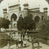 Tomb of Akbar, Sikandarah, Uttar Pradesh, India, C1900s Photographic Print by  Underwood & Underwood