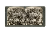 People Coming Up Tp Jerusalem for Sacrifice, Outside the Eastern Wall, 1900 Giclee Print by  Underwood & Underwood
