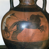 Greek Vase Depicting a Chariot, C5th-6th Century Bc Photographic Print