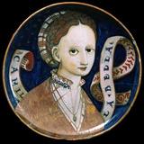 Dish with a Female Portrait (Coppa Amatori), Italian, 1537 Photographic Print