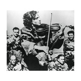 Russian Army Nurse Playing a Violin, Eastern Front, 1944 Giclee Print