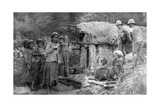 Girls and British Soldiers, Chakrata Hills, India, 1917 Giclee Print
