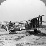 Sopwith Camel Aircraft Ready for a Patrol over the German Lines, World War I, C1917-C1918 Photographic Print