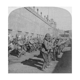 Inspection of the Cheshire Regiment in the Fort at Johannesburg, Boer War, South Africa, 1901 Giclee Print by  Underwood & Underwood