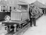 Rolls-Royce Silver Ghost Locomotive on the Romney, Hythe and Dymchurch Railway, 1933 Photographic Print