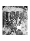 Indian Women Grinding Corn Between Two Round Stones, Delhi, India, 1900s Giclee Print