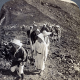 Pilgrims at the End of their Ascent of Mount Fuji (Fujiyam), Japan, 1904 Photographic Print