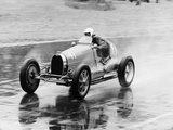 Frank Wall Driving a Bugatti Type 35B, 1926 Photographic Print