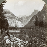 North Dome, Half Dome and Clouds Rest, Yosemite Valley, California, USA, 1902 Photographic Print by  Underwood & Underwood