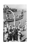 Lowering a Boat, HMS Devonshire, 1937 Giclee Print