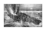 Russian Cruiser Foundering at the Battle of Cehmulpo, Russo-Japanese War, 1904-5 Giclee Print