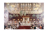 View of the Coronation Luncheon for King George V and Queen Mary Consort, London, 1911 Giclee Print