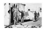 Repairing a Target Ship, 1937 Giclee Print